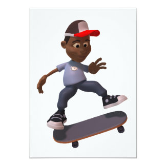 Youth Riding A Skateboard Invitations