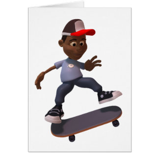 Youth Riding A Skateboard Note Cards