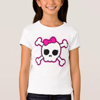 Youth Shirt Black and Pink Skull