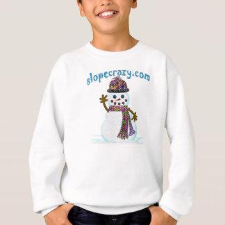 Youth slopecrazy.com snowmanSweatshirt Sweatshirt