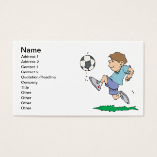 Youth Soccer Business Card