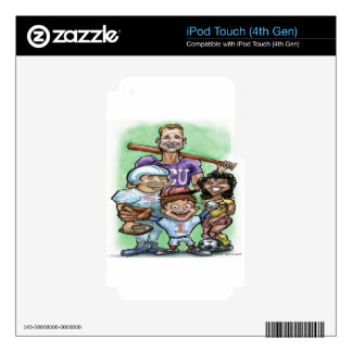 Youth Sports Skin For iPod Touch 4G