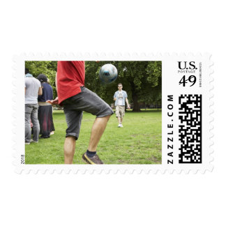 youth, young, friends, park, bbq, grass, trees, postage stamp