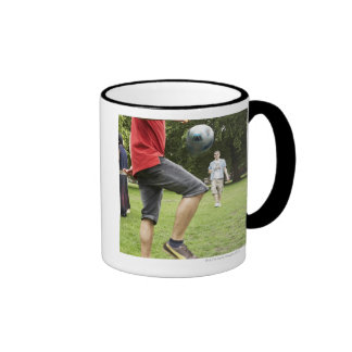 youth, young, friends, park, bbq, grass, trees, ringer coffee mug