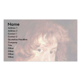 Youthful Self By Dyck Anthonis Van Double-Sided Standard Business Cards (Pack Of 100)