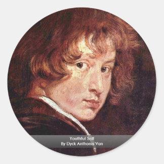 Youthful Self By Dyck Anthonis Van Sticker