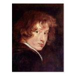 Youthful self-portrait by Antoon van Dyck Postcard