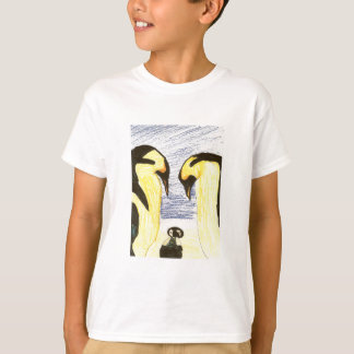 Youths Penguin Family Drawing T-Shirt