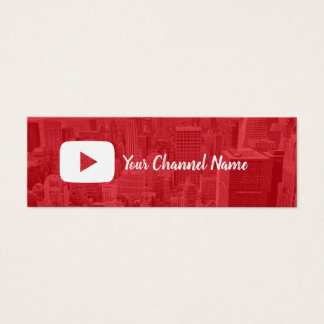 Youtube Channel Custom Photo Youtuber Mini Business Card