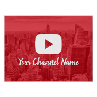 Youtube Channel Custom Photo Youtuber Poster