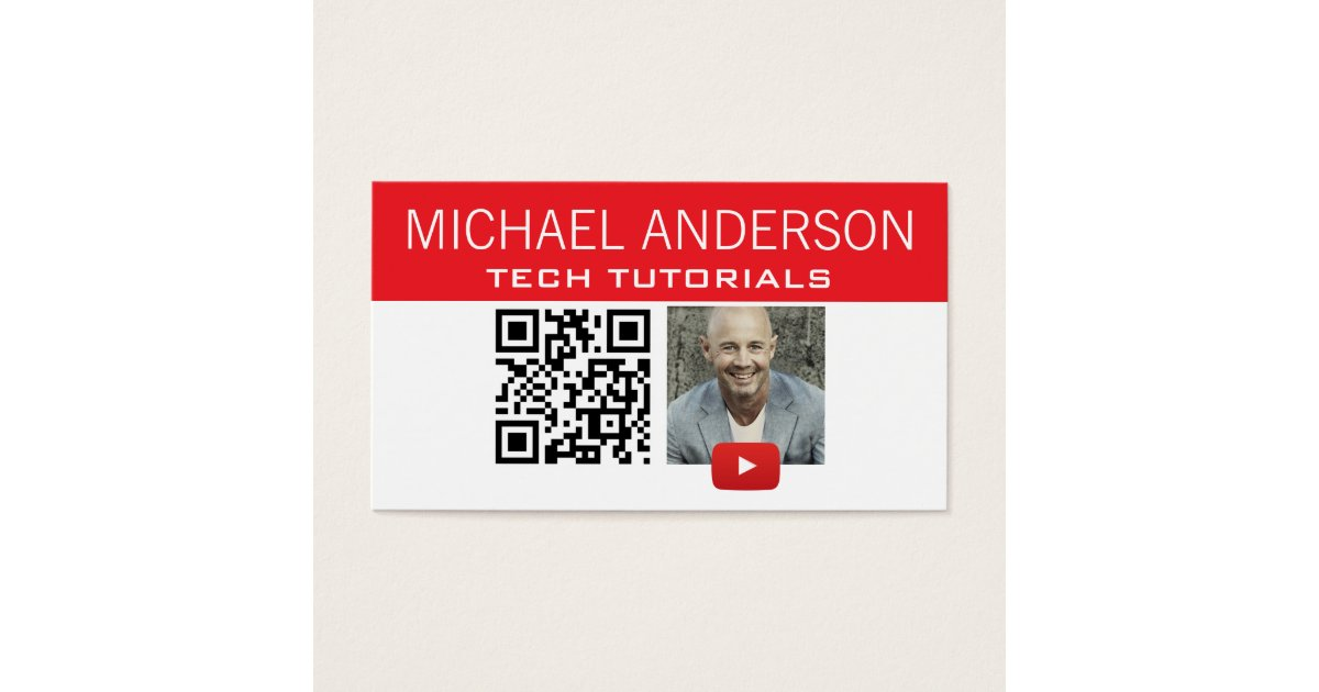 YouTube Channel Logo and QR Code   Modern YouTuber Business Card ...