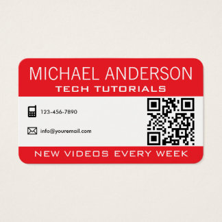 YouTube Channel | Professional YouTuber Business Card