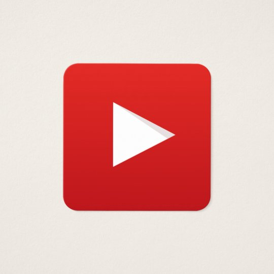 Youtube Promotional Business Cards & Templates