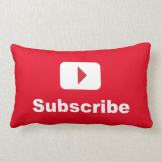 youtube channel subscribe lumbar pillow