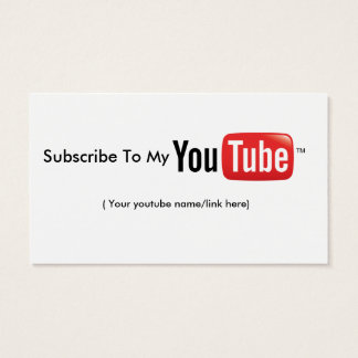 Youtube Double-Sided Standard Business Card