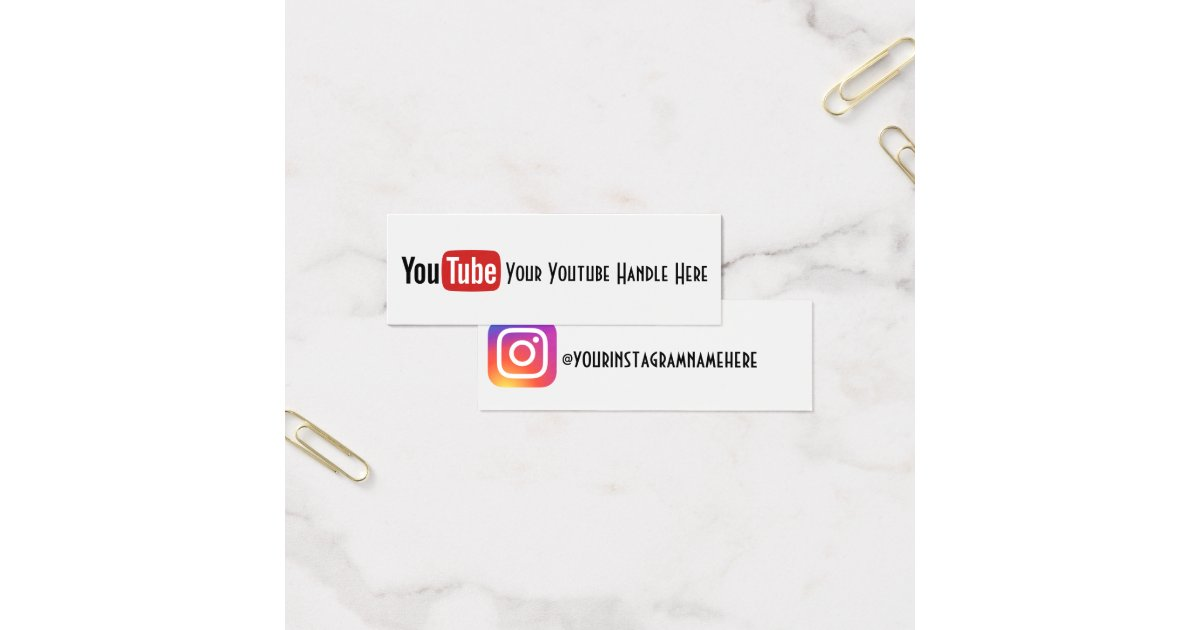 Youtube Business Cards & Templates | Zazzle