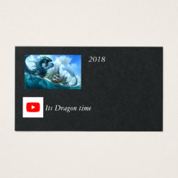 YOUTUBE Its Dragon time card