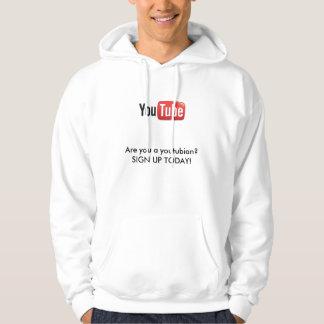 ¿YouTube-logotipo (2), es usted un youtubian? Sudadera