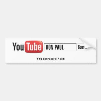 YouTube Ron Paul Pegatina Para Auto