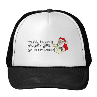 Youve Been A Naughty Girl Go To My Room Mesh Hats