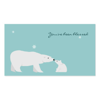 You've Been Blessed Game Card: Polar Bear Business Card