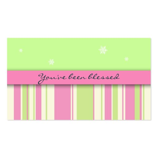 You've Been Blessed Game Card: Stars & Stripes Business Card Template