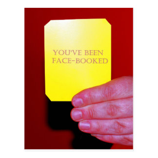 You've Been Face-Booked Postcard