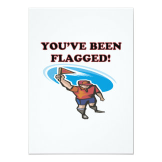 Youve Been Flagged 5x7 Paper Invitation Card