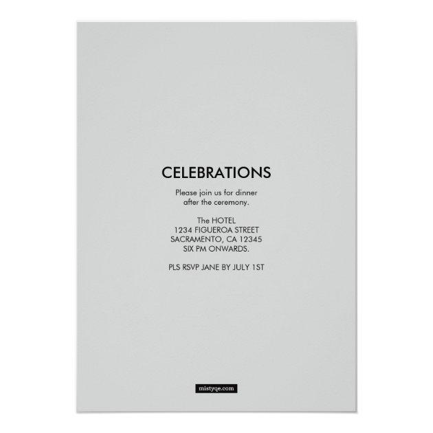 You've been framed Caduceus Medical Graduation 5x7 Paper Invitation Card (back side)