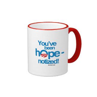 You've been hopenotized ringer coffee mug