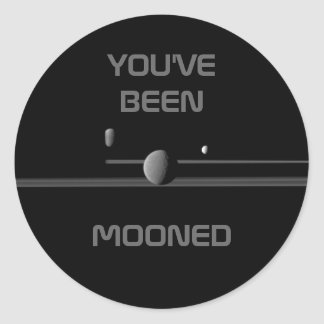 """YOU'VE BEEN MOONED"" Saturn's Moons Sticker"