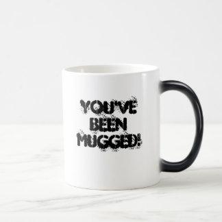 You've been MUGGED! 11 Oz Magic Heat Color-Changing Coffee Mug