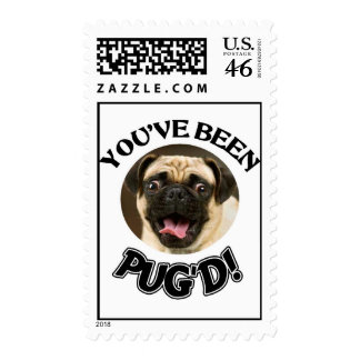 YOU'VE BEEN PUG'D - FUNNY PUG STAMPS