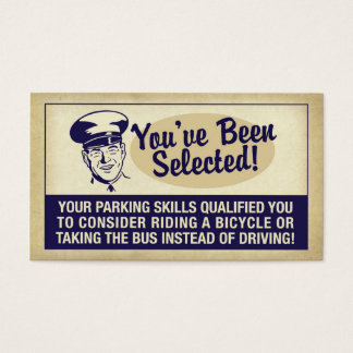 You've Been Selected! Business Card