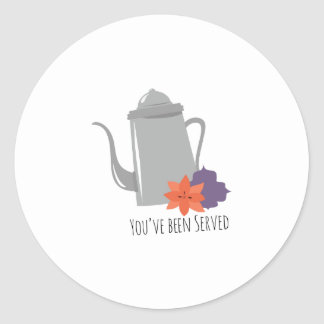 Youve Been Served Classic Round Sticker