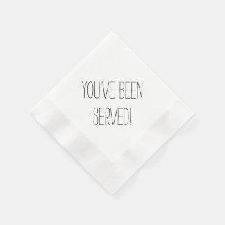 You've Been Served Custom Napkins