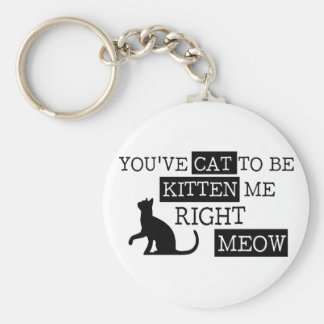 You've cat to be kitten meow funny keychain