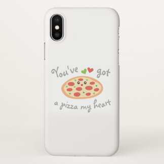 You've Got a Pizza My Heart Funny Punny Food Humor iPhone X Case