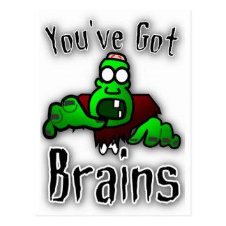 You've Got Brains Postcard