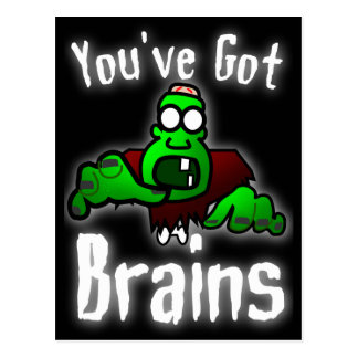 You've Got Brains - white Postcard