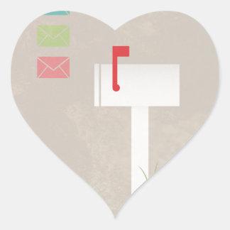 You've Got Mail Heart Sticker