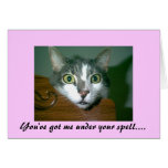 You've got me under your spell...Valentine Card