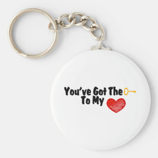 You've Got The Key To My Heart Basic Round Button Keychain