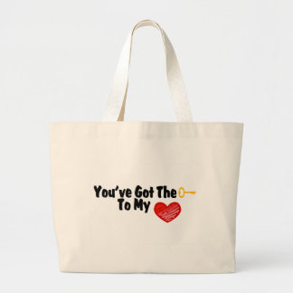You've Got The Key To My Heart Large Tote Bag