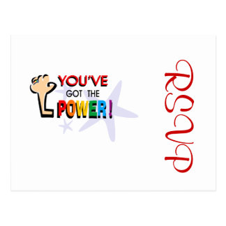 You've got the power postcard