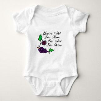 You've Got The Time I've Got The Wine Baby Bodysuit