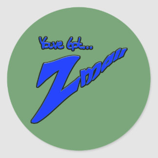 Youve Got Z-mail-The funny fad thats real Classic Round Sticker