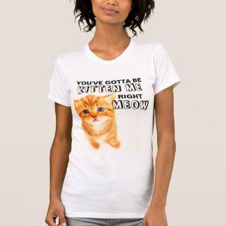 You've Gotta Be Kitten Me, Funny Cat T-shirts