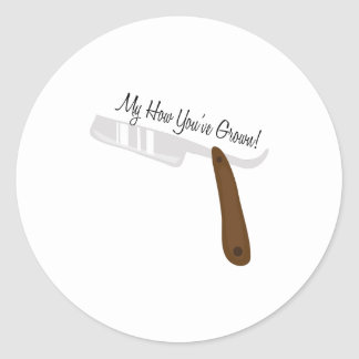 Youve Grown Classic Round Sticker