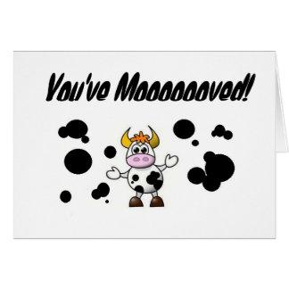 Youve Mooooooved! Good Luck Card